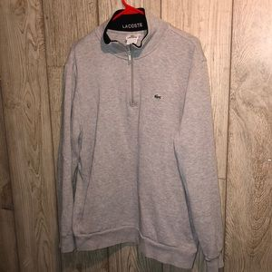 Lacoste Vintage Sweater Pullover 1/3 Zip Size XL